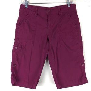 ann taylor loft pink cargo khaki shorts 2